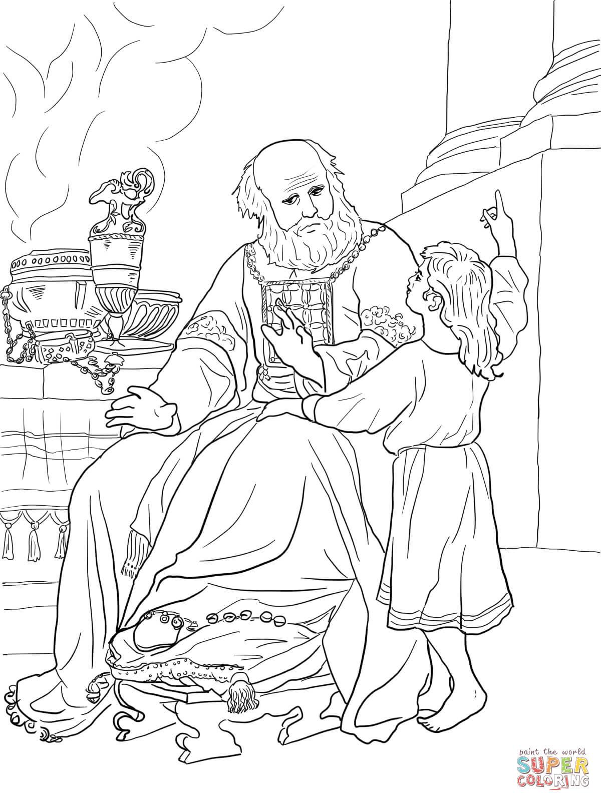 coloring pages elisha prophet