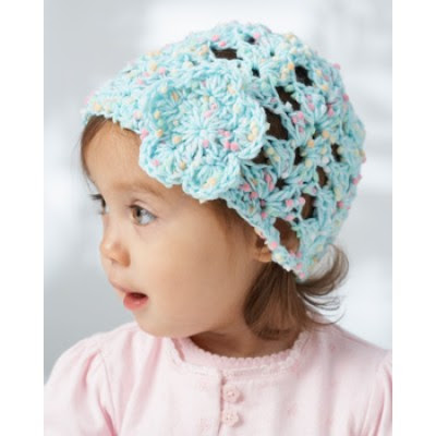 Lacy Shells Baby Hat