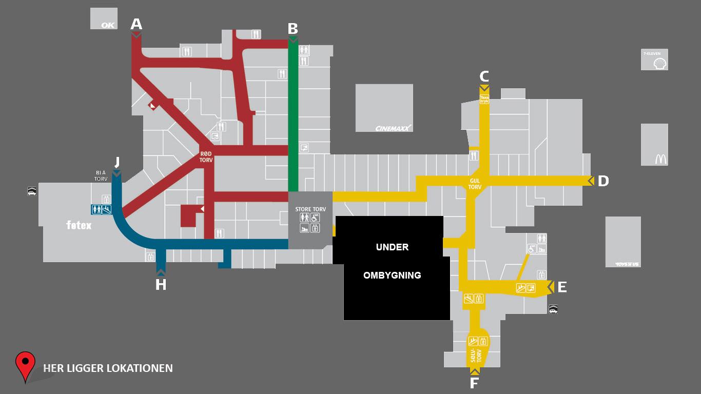 Rosengårdcentret Butikker Kort | Kort