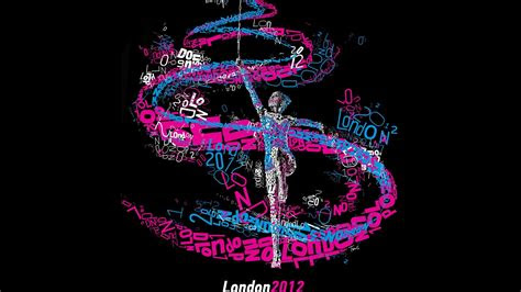 black background typographic portrait gymnastics london