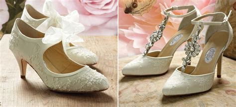 Vintage Wedding Shoes   Confetti.co.uk
