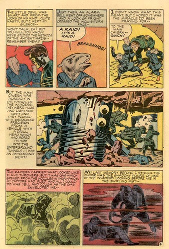 Alarming Tales Harvey Comics comic book scans art by Jack Kirby talking cartoon rats interrogate time traveler