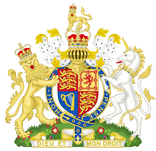 Archivo:Royal Coat of Arms of the United Kingdom.svg