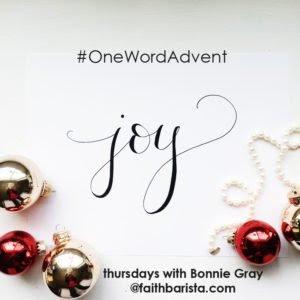 #OneWordAdvent Joy Badge