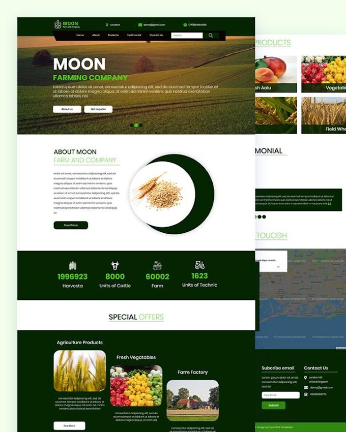 Moon – Free Farm Html Template