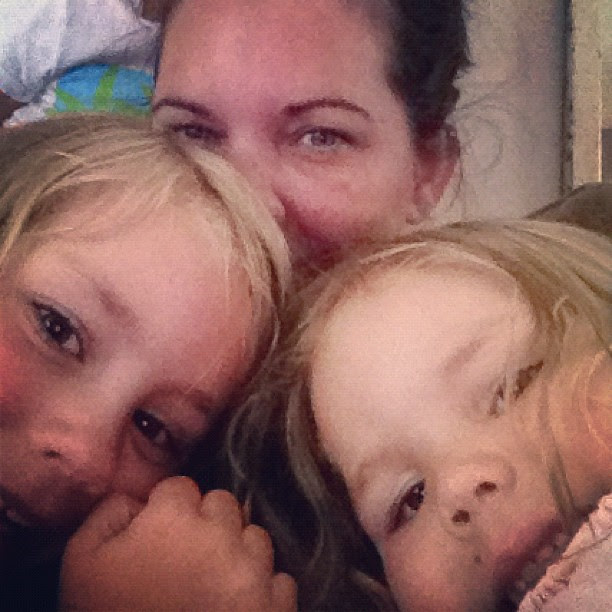 2 little girls that need to go to bed!
