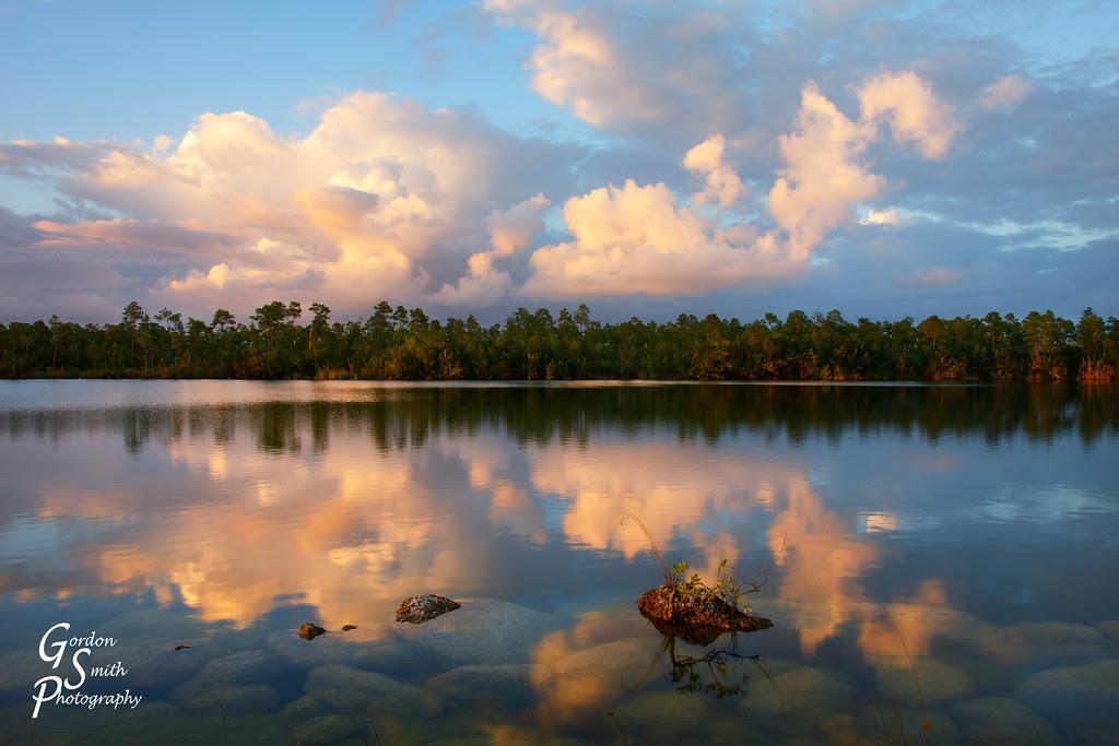 pine glade lake sunset florida