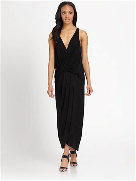 Draped Jersey Maxi Dress   Saks Fifth Avenue (dresses