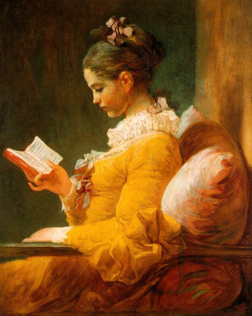 """""""The Reader,"""" a Fragonard painting from 1776"""