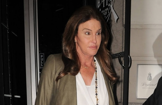Caitlyn Jenner arrives at a dinner party for the KUWTK show in NYC. Kendall Jenner and Kourtney Kardashian attended the dinner along with their mother Kris and her boyfriend Corey.