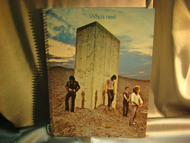 Re-purposed Album Cover Drawing Sketch Books - The Who - ReSpinIt