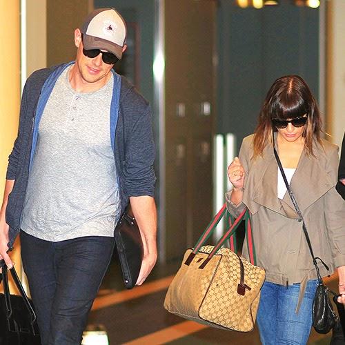 glee Portugal: Lea Michele e Cory Monyeith no aeroporto de