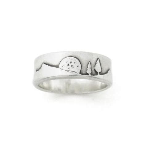 Rising Moon Mountain Pines Ring   Beth Millner Jewelry