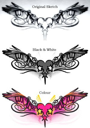 Tribal Heart Tattoo Designs