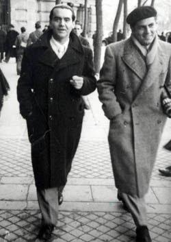 Con Rafael Rodríguez Rapún, uno de sus grandes amores