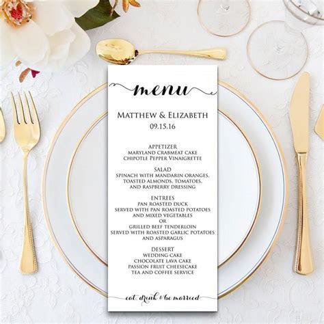 Wedding Menu, Wedding Menu Template, Menu Cards, Menu