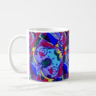 Colorful Abstract Art on Classic Mug