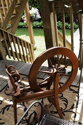 Wheel on the Porch
