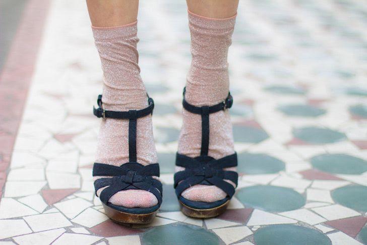Socks with granny heels, lol