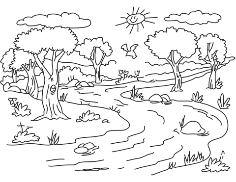 70 Free Printable Coloring Pages For Adults Landscapes For Free