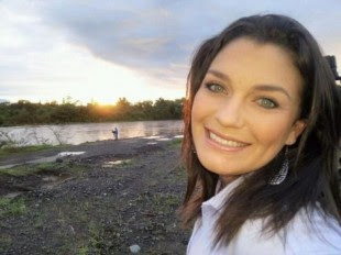 La periodista Natalia García fue víctima de la cámara escondida. (Internet).