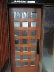 Awesome Black Wooden Large Single Modern Front Door With Alumunium ...
