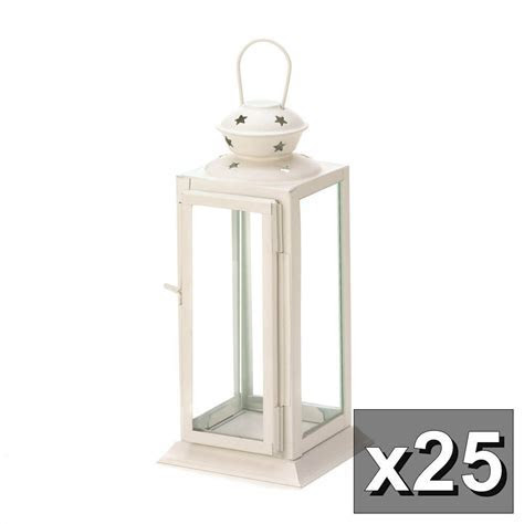 25 Soft White Starlight Candle Lantern Table WHOLESALE