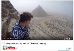 Teen illegally scales Egypt's Great Pyramid | wzzm13.com