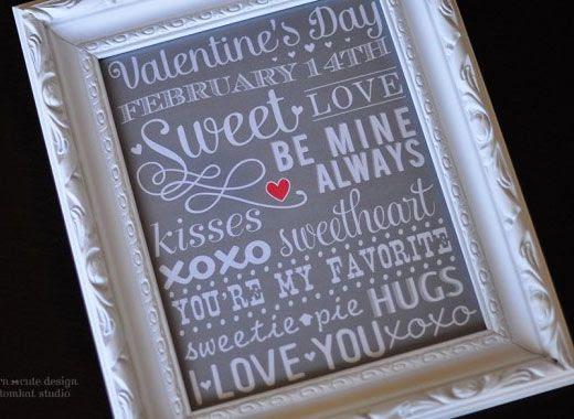 Valentine Gift Ideas for Boyfriend - Framed Subway Art - Click Pic for ...