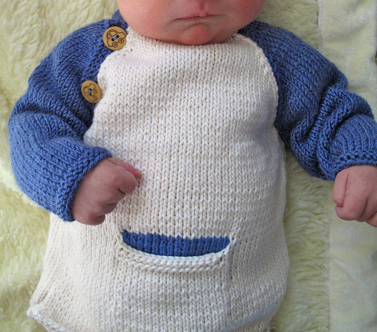 Free Knitting Pattern for Baby Baseball Tee With Mittens