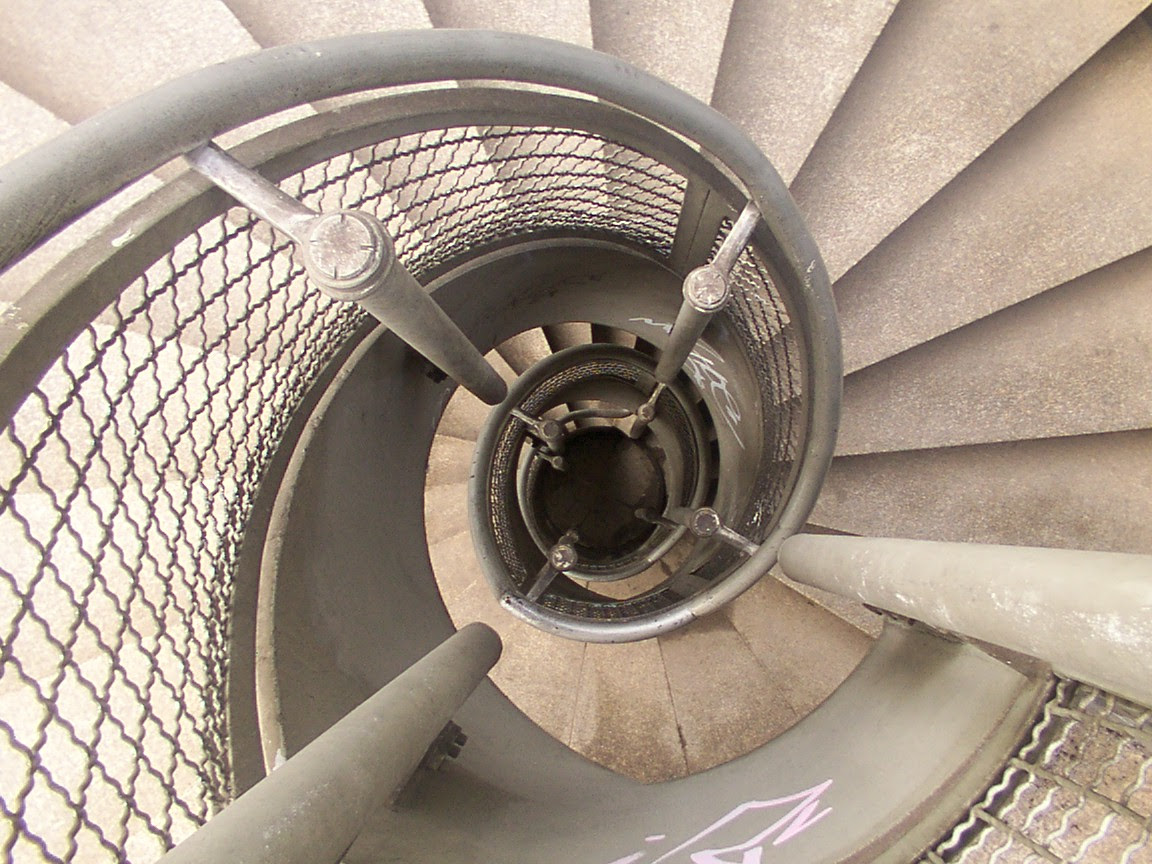 Spiral staircase in Cologne Germany
