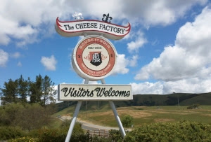 Road Sign marking the Marin French Cheese Factory