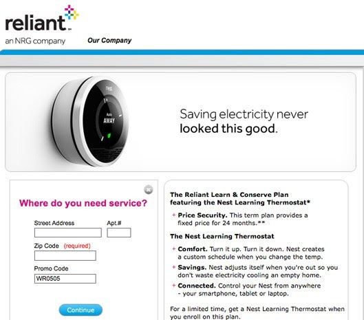 reliant energy business plan
