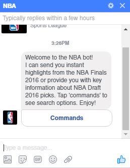 NBA Facebook Chat Bot