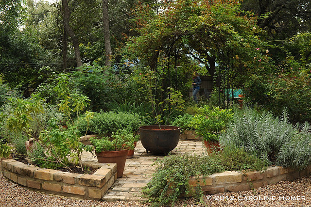 Carolyn Williams' herb wheel garden