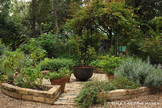 Carolyn Williams' herb wheel garden