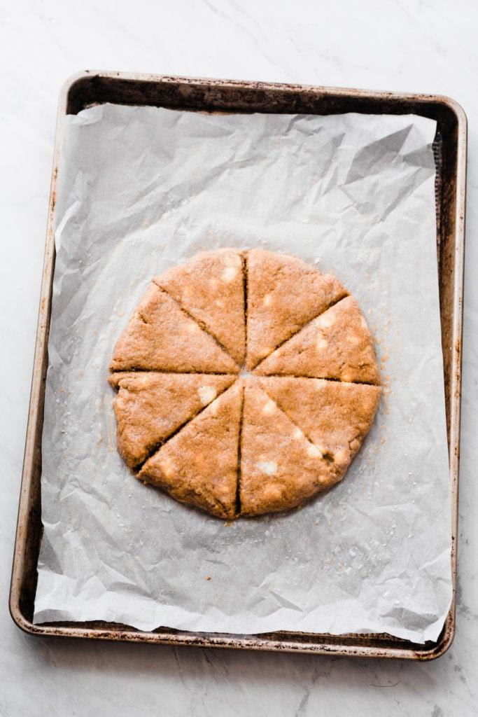 s cipher meliorate than baking inward the autumn pumpkin scones amongst bourbon maple vanilla glaze
