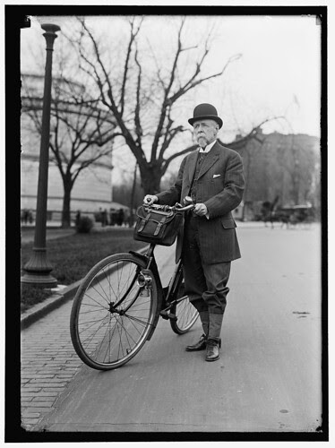 Alvey Adee of Dept of State & Bicycle