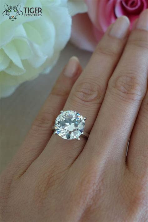 7 Carat Solitaire 4 Prong Celebrity Style by