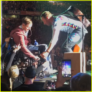 Coldplay's Chris Martin Invites Wheelchair Crowd Surfer on Stage - Watch Now!