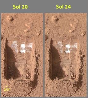 Phoenix encuentra hielo en Marte