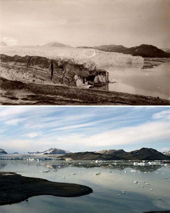Η κλιματική αλλαγή μέσα από σοκαριστικές φωτογραφίες των παγετώνων της Αρκτικής (5)