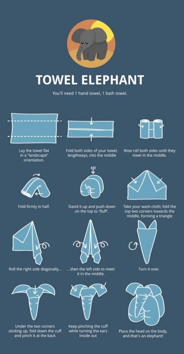 Towel Elephant Tutorial