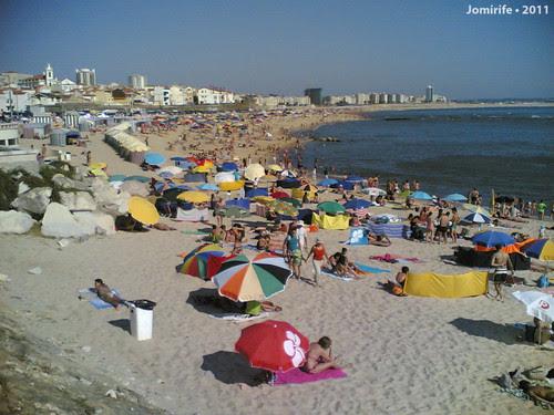 Praia de Buarcos quase cheia (Figueira da Foz)