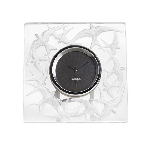 Clock Clear Lalique Hirondelles 10624500