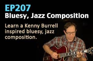 bluesy jazz guitar lesson solo composition ep