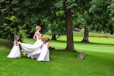 Bride and Flower Girls   Wedding Photographer Edinburgh