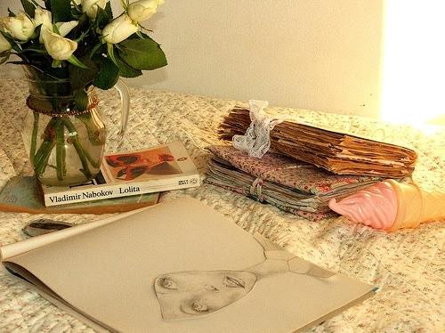 artwork, books, floral, flowers, illustration, just