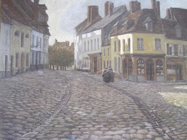 File:Albert Lechat , la place de l'église à Montreuil-sur-Mer 1907.JPG