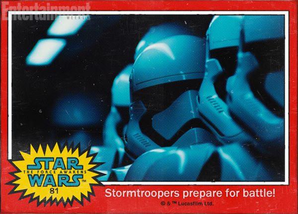Stormtroopers prepare for battle in STAR WARS: THE FORCE AWAKENS.
